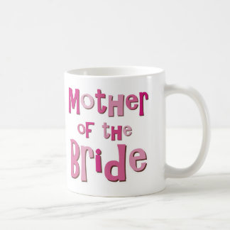 Mother of the Bride Pink Brown Coffee Mug