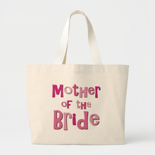 Mother of the Bride Pink Brown Large Tote Bag