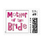 Mother of the Bride Pink Brown Postage Stamp