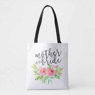 mother of the bride pink floral tote bag