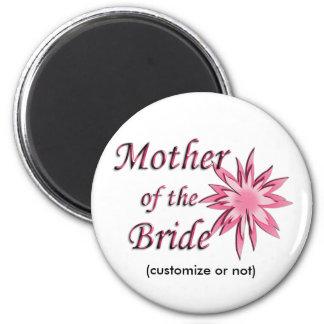 Mother of The Bride Pink Fridge Magnet