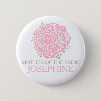 Mother of the bride pink posy wedding pin button