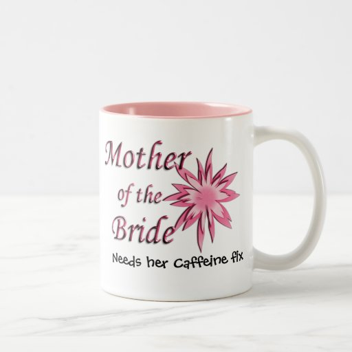 Mother of The Bride Pink Two-Tone Coffee Mug