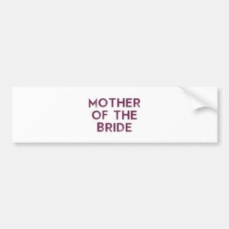 Mother of the Bride Plum Bumper Sticker