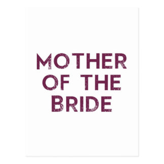 Mother of the Bride Plum Postcard