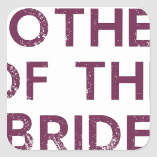 Mother of the Bride Plum Sticker