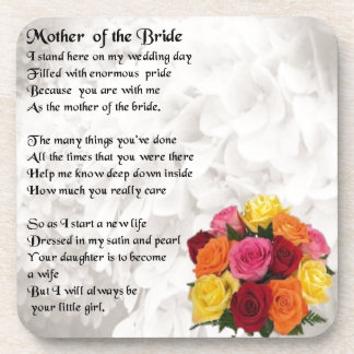 Mother of the Bride Poem  - Flowers Coaster