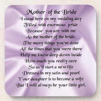 Mother of the Bride Poem  -  Lilac Silk Design Coaster