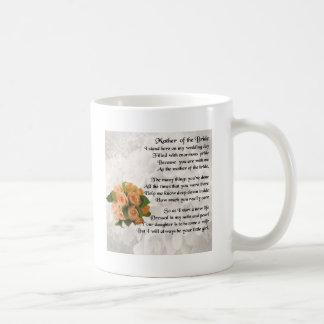 Mother of the Bride Poem  -  Peach Roses Coffee Mug