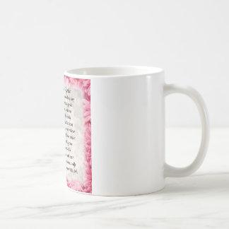 Mother of the Bride Poem - Pink Floral Design Coffee Mug