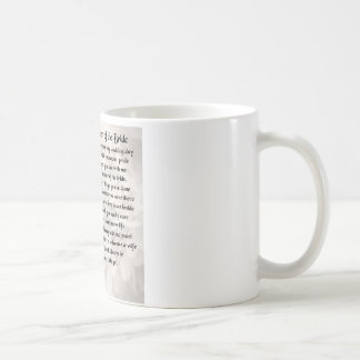 Mother of the Bride Poem - Red Roses Coffee Mug