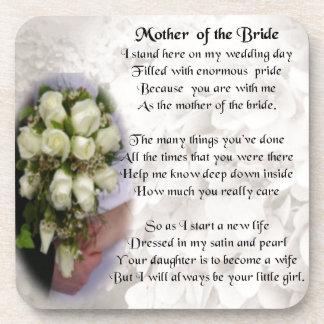 Mother of the Bride Poem - Wedding Bouquet 2 Beverage Coaster
