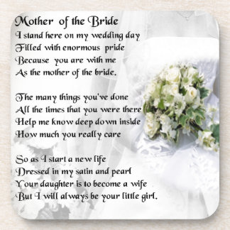 Mother of the Bride Poem   Wedding Bouquet Design Beverage Coaster