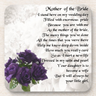 Mother of the Bride  -  Purple Roses Coaster