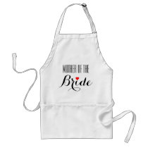 Mother of the Bride Red Heart Apron