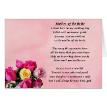 Mother of the Bride - Roses Card