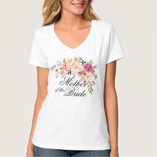 mother of the bride rustic floral T-Shirt