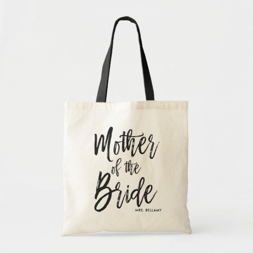 Mother of the Bride  Script Style Custom Wedding Tote Bag