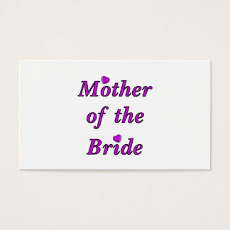 Mother of the Bride Simply Love Business Card