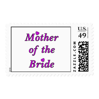 Mother of the Bride Simply Love Postage Stamp