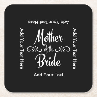 Mother of the Bride Square Paper Coaster