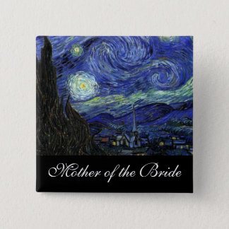Mother of the bride Starry Night Button