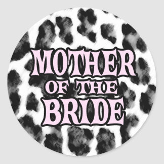 Mother of the Bride Round Stickers