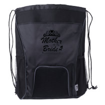 Mother Of The Bride Team Wedding Bride Groom Drawstring Backpack