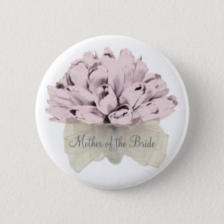 Mother of the Bride /The Wedding ~ Pink Flower #09 Button