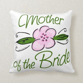 Mother of the Bride Throw Pillows