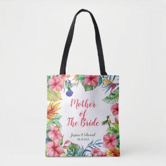 Mother of The Bride Tropical Hawaiian Wedding Tote Bag