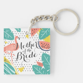 Mother of the Bride Tropical Summer Keychain