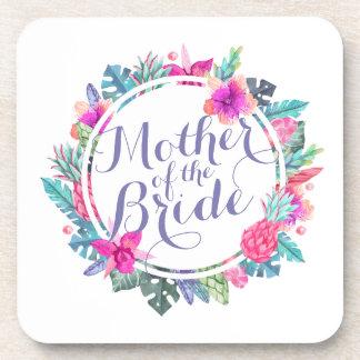 Mother of the Bride Tropical Wedding   Coaster