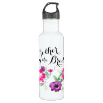 Mother of the Bride Watercolor Flowers Water Stainless Steel Water Bottle