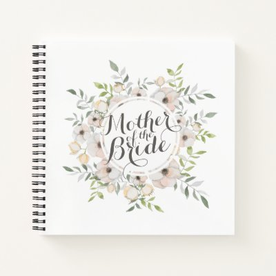 Mother of the Bride Watercolor Guestbook Notebook