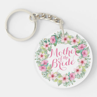 Mother of the Bride Watercolor Wedding Keychain