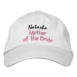 Mother of the Bride Wedding Hat Custom Name Embroidered Hat