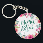 """Mother of the Bride Wedding Keychain<br><div class=""""desc"""">For further customization,  please click the &quot;Customize&quot; button and use our design tool to modify this template. If the options are available,  you may change text and image by simply clicking on &quot;Edit/Remove Text or Image Here&quot; and add your own. Designed by Freepik.</div>"""