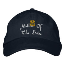 Mother Of The Bride Wedding Navy Embroidered Baseball Hat