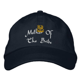 Mother Of The Bride Wedding Navy Embroidered Hats