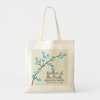 Mother of the Bride Wedding Party Gift Bag (aqua)