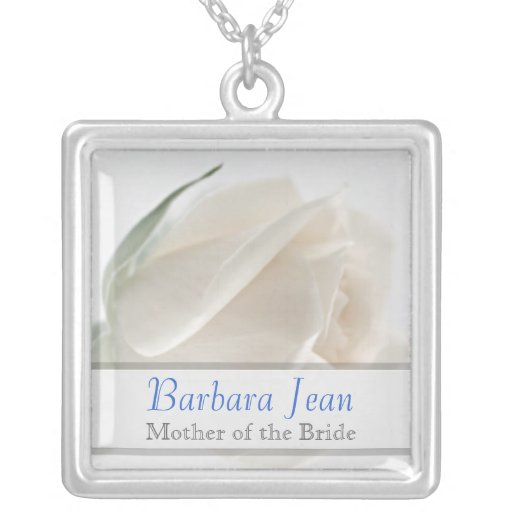 Mother of the Bride - White Rose Wedding Necklace