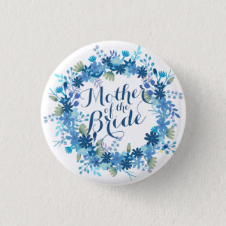 Mother of the Bride Winter Wedding Pin Button