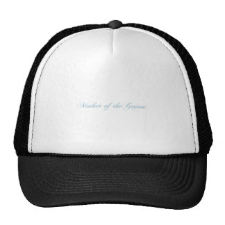 Mother of the Groom Aquamarine Trucker Hat