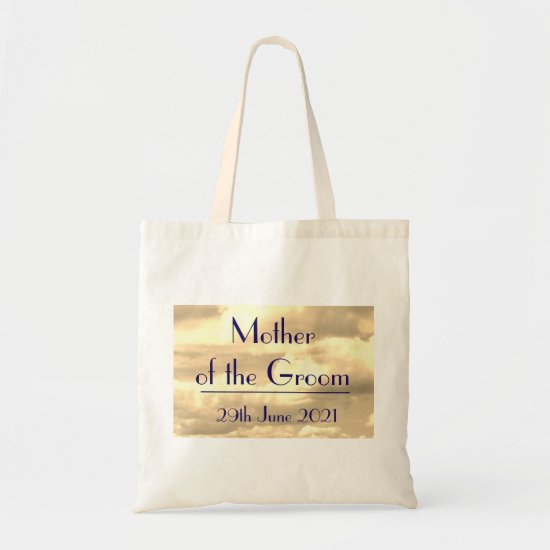 Mother of the Groom Art Deco Sepia Cloud Tote Bag