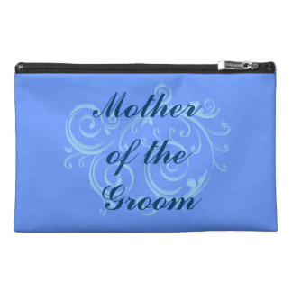 Mother of the Groom, Blue Scroll Cosmetic Bag