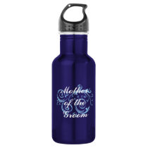 Mother of the Groom, Blue Scroll Water Bottle