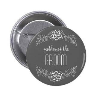 Mother of the Groom Bowtie & Stripes Button