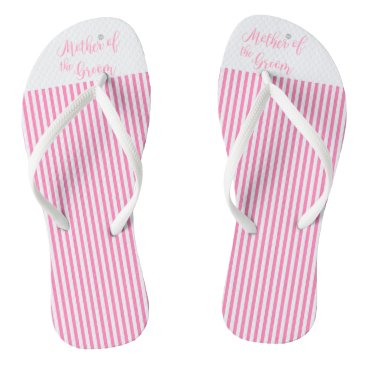 Beach Themed Mother of the Groom, Bridal,Wedding, Pink Cute Flip Flops