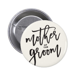 Mother Of The Groom Brush Wedding Bridal Button